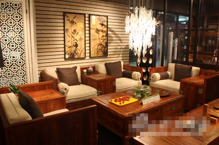 长沙现代中式家具——京瓷家居用红木缔造现代艺术的经典; 现代中式