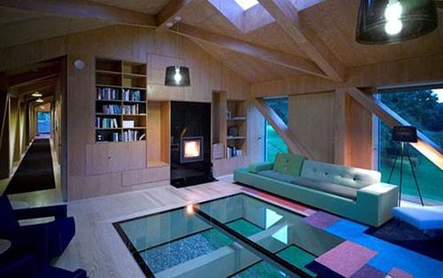 别墅室内坡屋顶效果图
