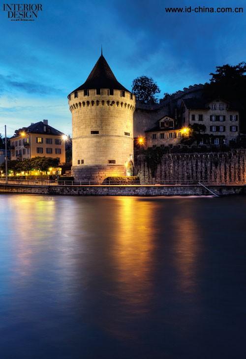瑞士卢塞恩市河畔