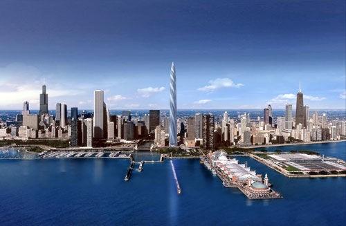 """""""芝加哥螺旋塔""""属玻璃钢结构"""