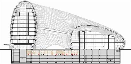 四柱木结构剖面图