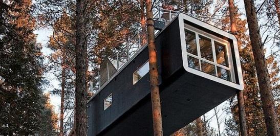 奇妙的瑞典树屋旅馆设计