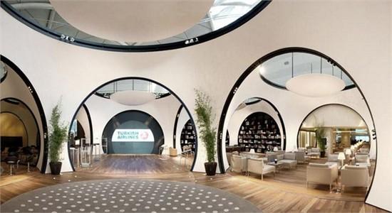 土耳其航空公司cip休息室_美国室内设计中文网