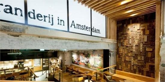 """阿姆斯特丹:""""银行""""概念星巴克咖啡店_美国室内设计网"""