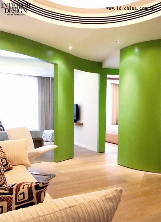 客厅绿墙装修效果图