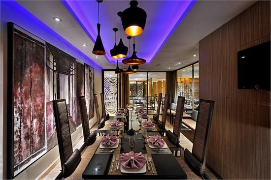 餐厅装饰-福州海联汇餐饮空间设计; 中式风格新区中餐馆装修效果图