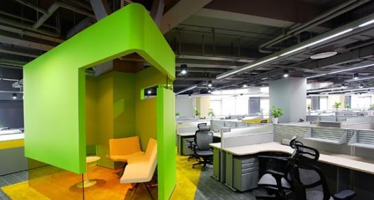 科技型企业公司办公室装修设计案例