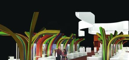"""crab工作室设计""""世界旅游市场""""的秘鲁展馆"""