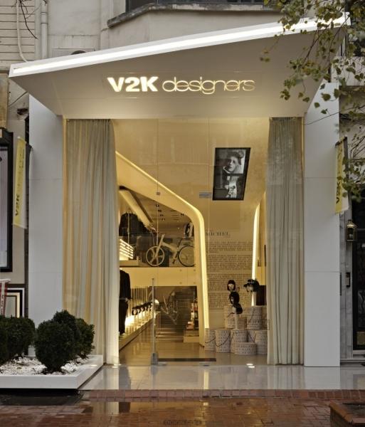 土耳其伊斯坦布尔的v2k服装店设计