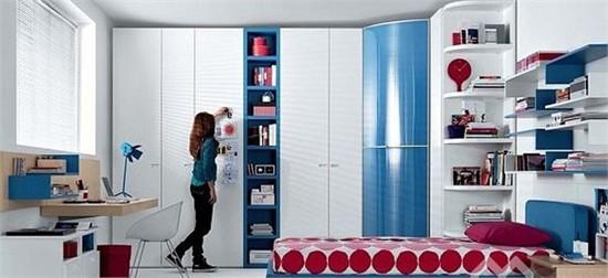 時尚簡約青少年房間裝飾設計_美國室內設計中文網