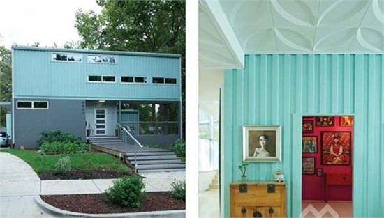 美國華麗集裝箱住宅設計_美國室內設計中文網