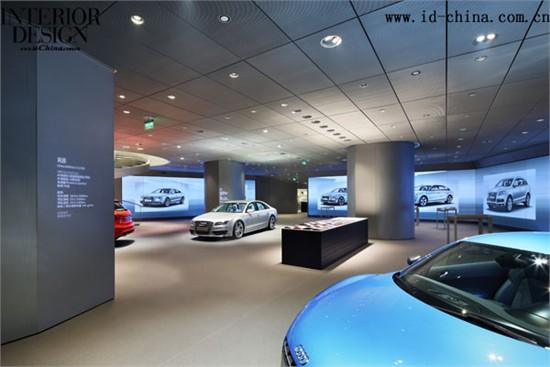 汽車展廳手繪設計圖展示