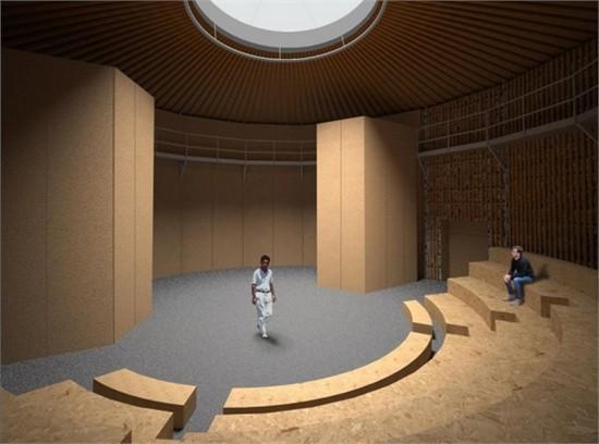 英国用再生纸造歌剧院_美国室内设计中文网