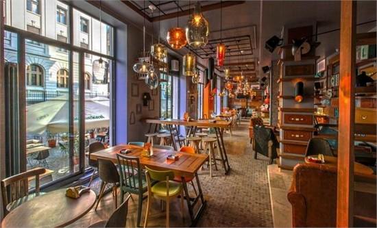 罗马尼亚布加勒斯特entourage餐厅设计_美国室内设计