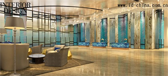 室内复式意大利水彩画背景图片
