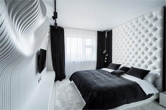 设计下的黑白卧室