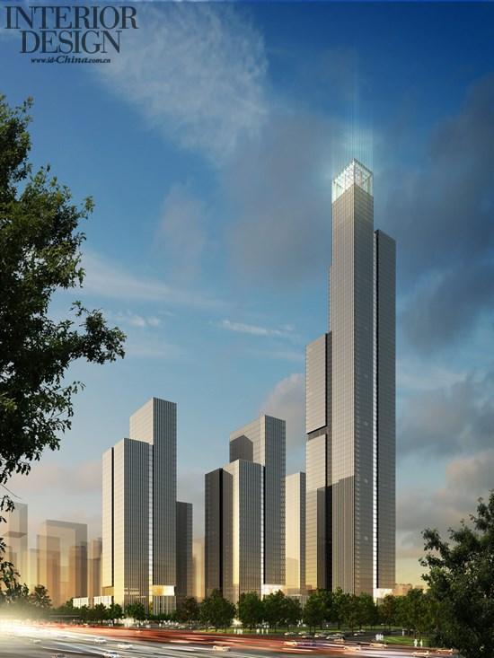 米的超高层塔楼作为远距离