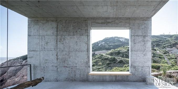 △风雨廊景窗看向公路 @章勇-空间进化 漂亮的房子 舟山站 坐拥270