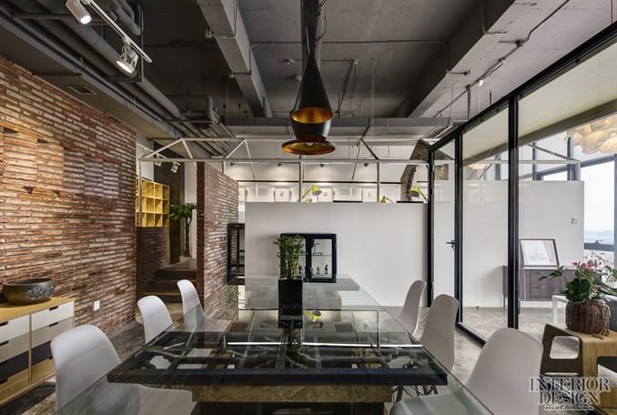 吊顶玻璃花格效果图-尤格设计办公室 Atelier UGD office