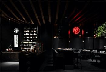 """埂上设计丨昆山爱烧肉居酒屋:一间赋有仪式感的""""黑金餐厅"""""""