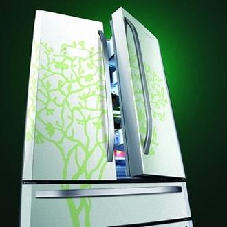"""卡萨帝""""生命之树""""彩绘冰箱"""